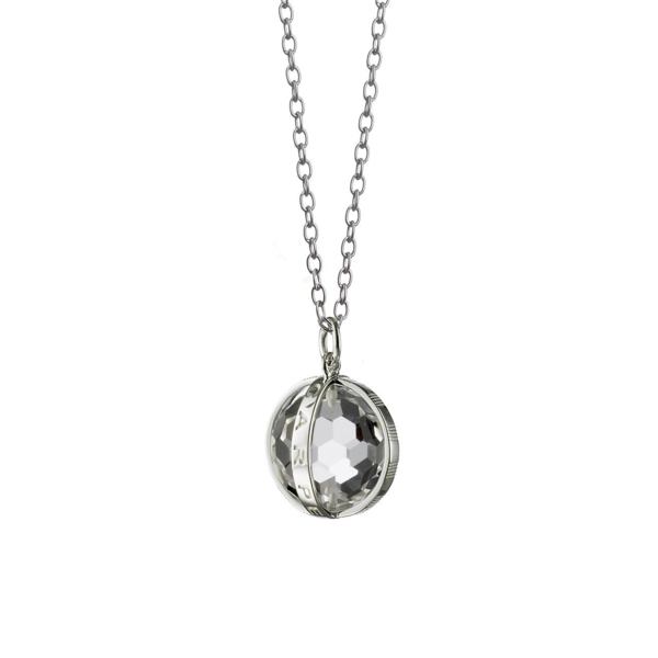 Closeup photo of Carpe Diem Rock Crystal Charm