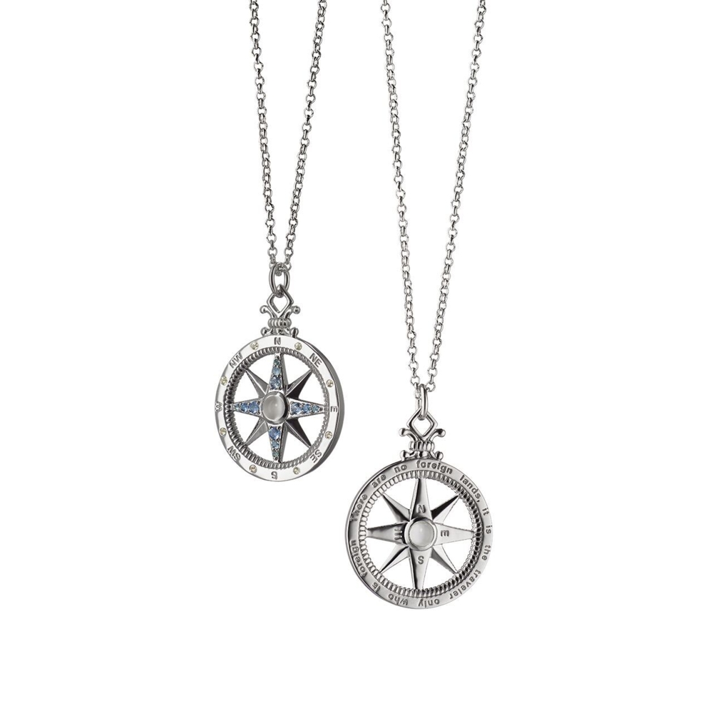 Global Compass Charm (Sterling Silver)