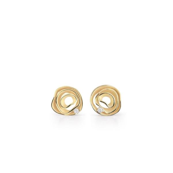 Closeup photo of Dune Earrings (Yellow Gold)