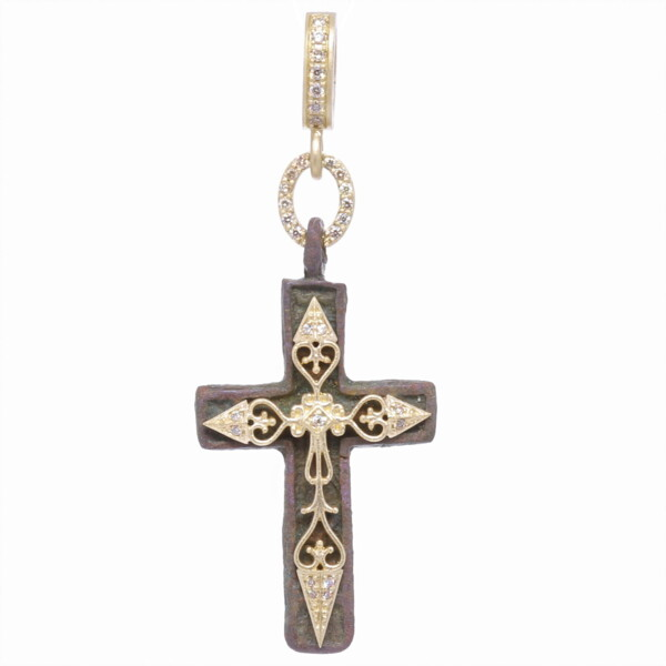 Closeup photo of Small Old Believers Cross Pendant