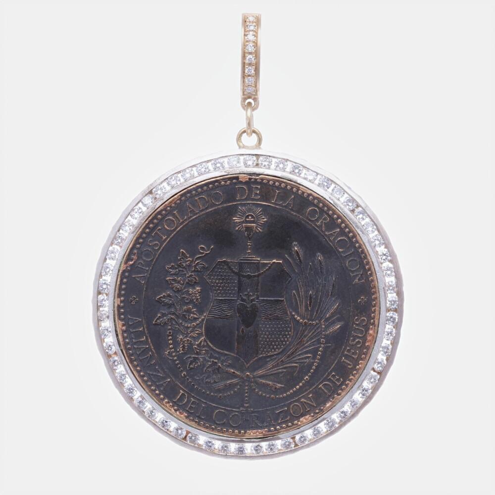Spanish Sacred Heart Pendant