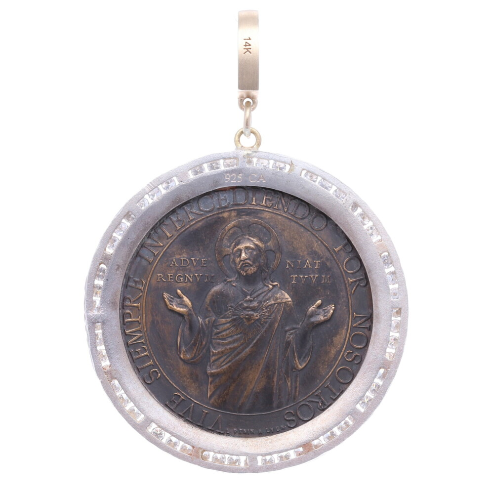 Image 2 for Spanish Sacred Heart Pendant