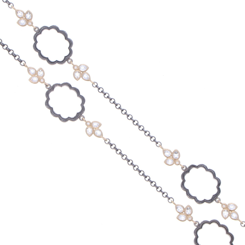 Image 2 for Scalloped Floral Leaf Chain