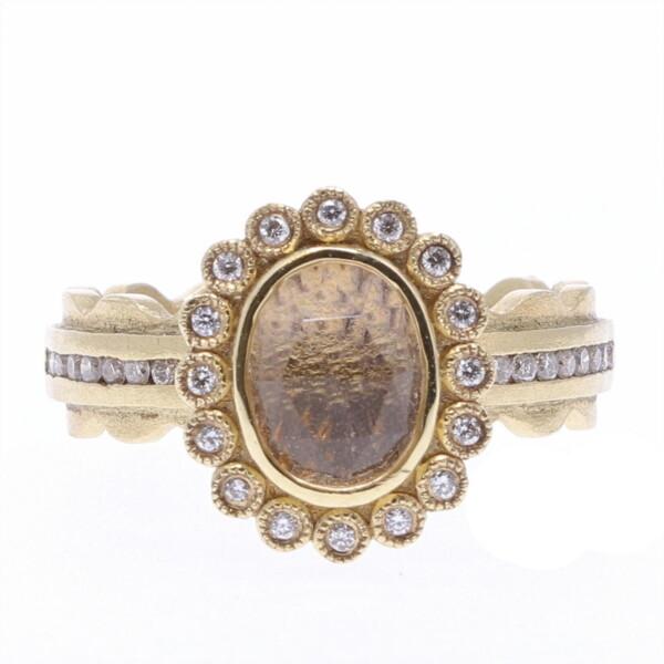 Closeup photo of White Topaz Princess Ring