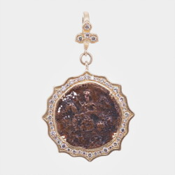 Closeup photo of Antique St. George Pendant