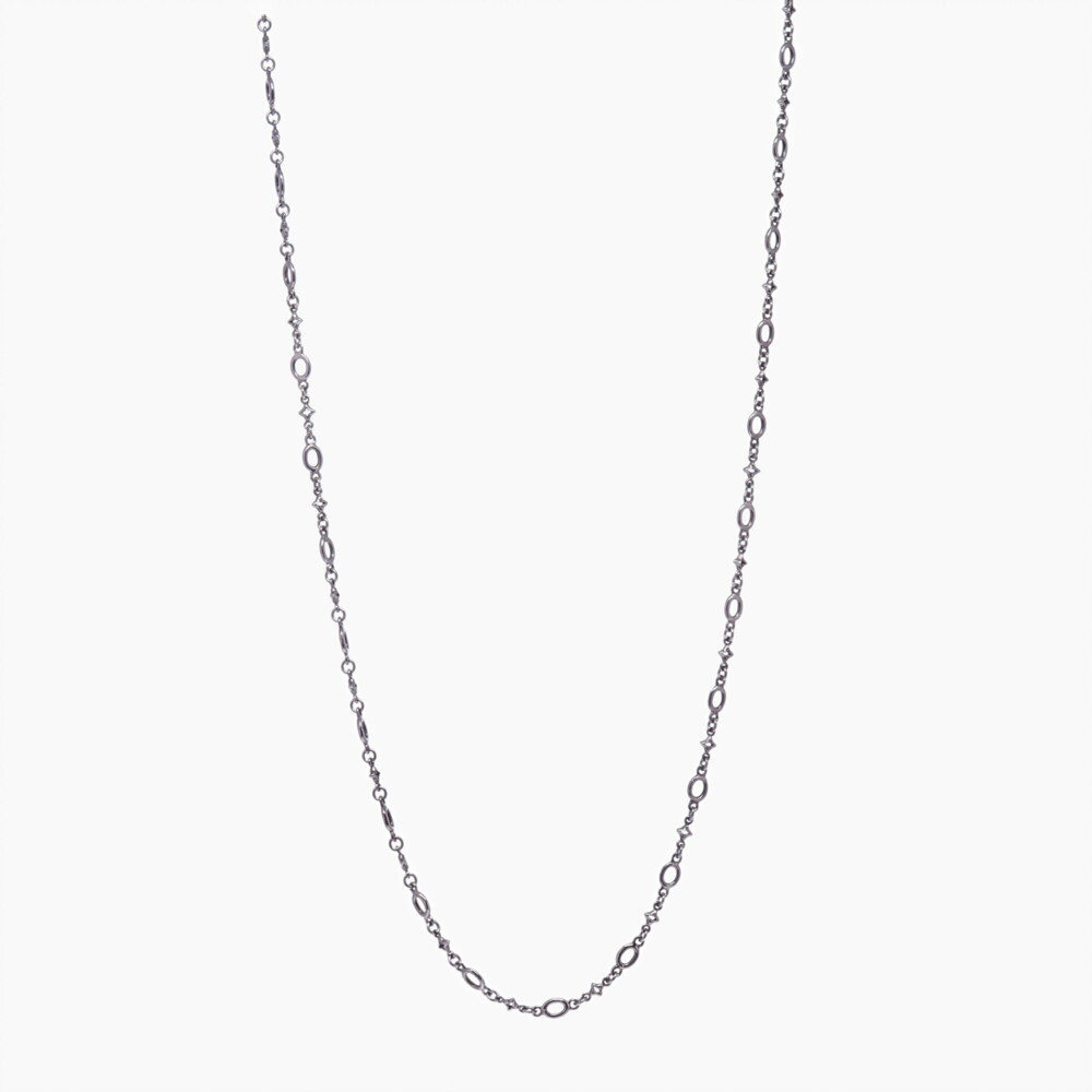 Image 2 for Polished Oval & Tiny Star Link Chain