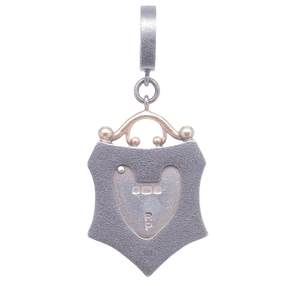 Image 2 for Small Vintage English Padlock Heart Shield