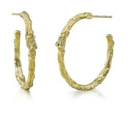 Closeup photo of Branch Hoop Earrings
