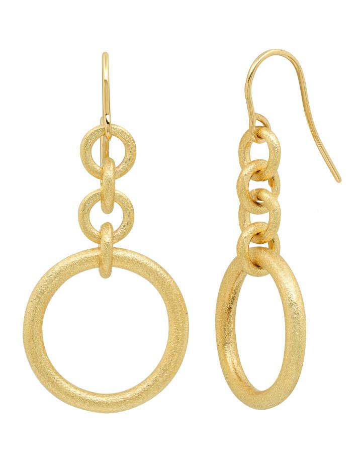 Embrace Circle Dangle Earrings