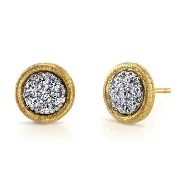 Closeup photo of Mosaic Earrings With Diamonds