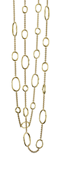 Closeup photo of Olive Branch Link Necklace