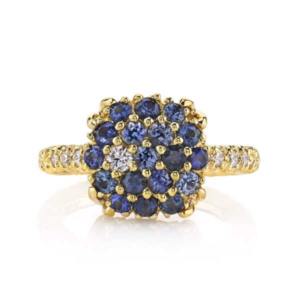 Closeup photo of Blue Sapphire Ring With Diamonds