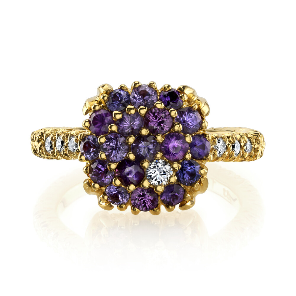 Image 2 for Blue Sapphire Ring With Diamonds