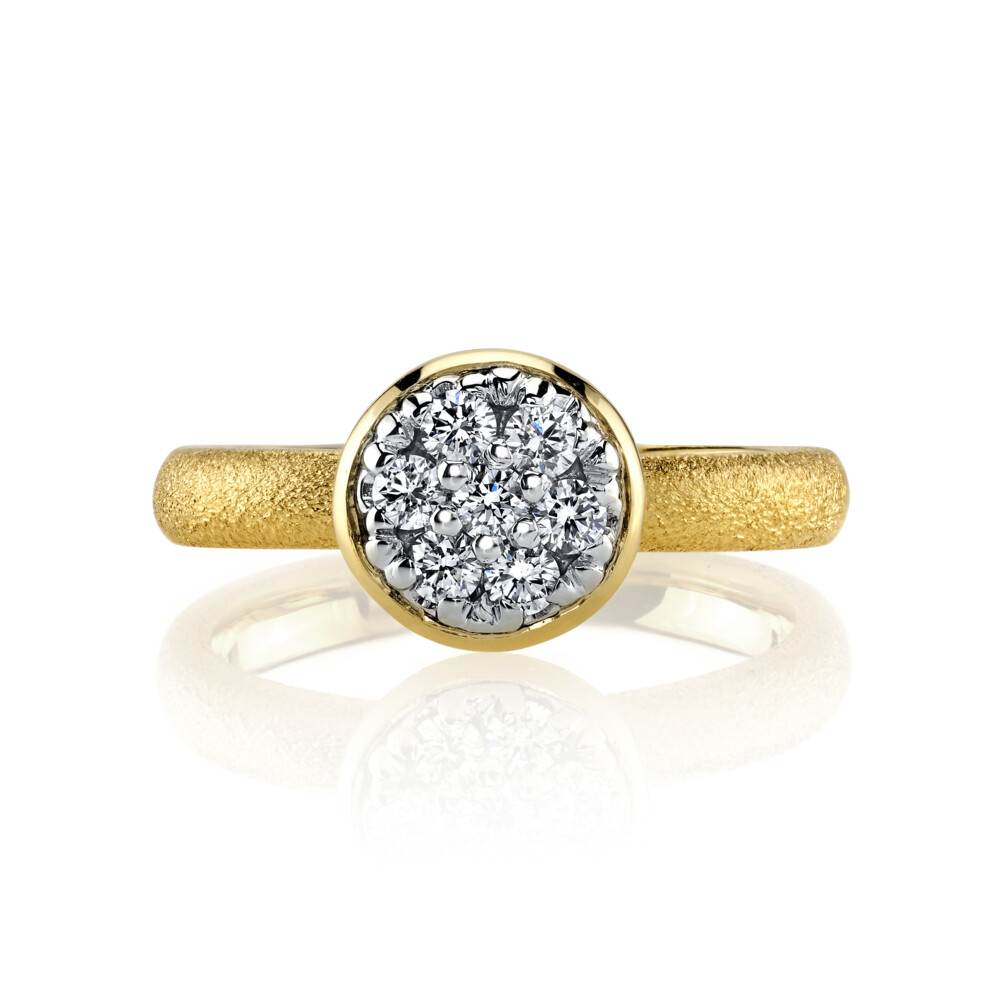 Diamond Ring With Aspen Finish