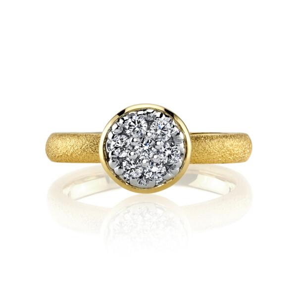 Closeup photo of Diamond Ring With Aspen Finish