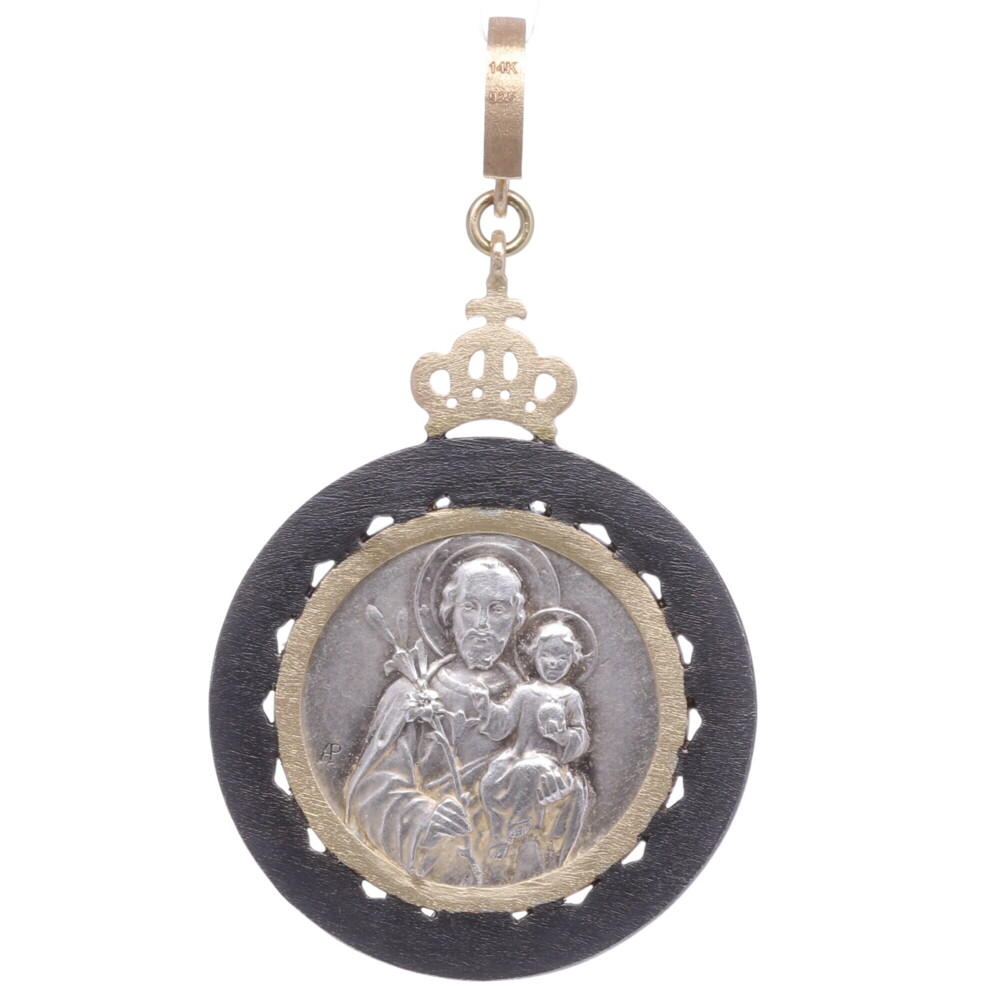Image 2 for European Guardian Angel Pendant with St. Joseph