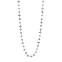 """Closeup photo of Labradorite Gold Necklace 26"""""""