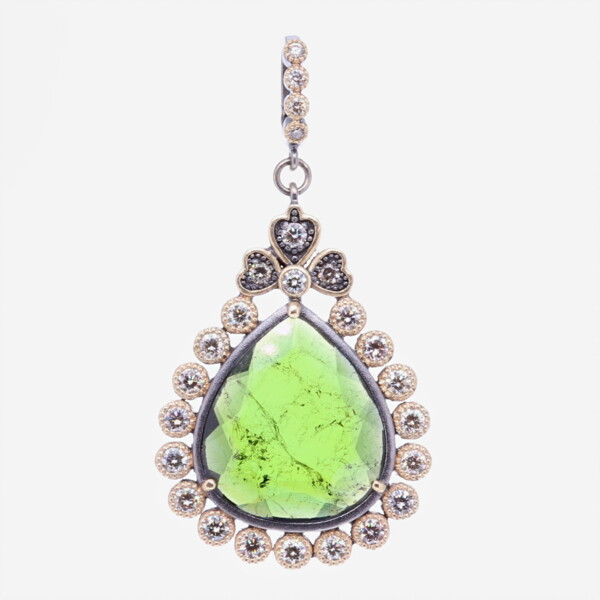 Closeup photo of Green Tourmaline Pendant