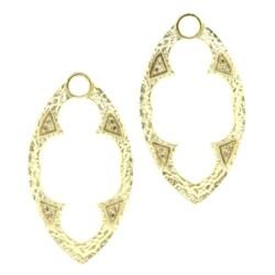 Closeup photo of Marquise Diamond Earring Charm Frames