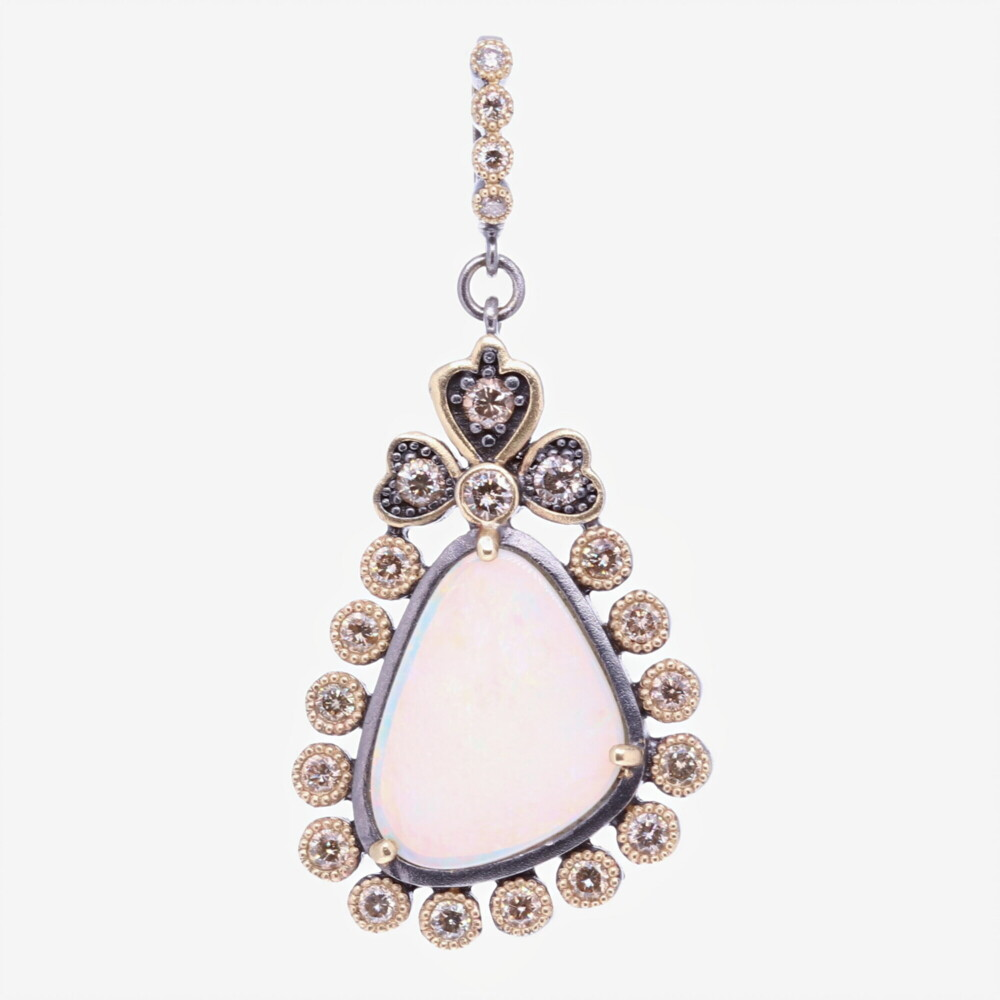 Asymmetrical Opal Pendant