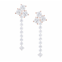 Closeup photo of Vivace Dangle Diamond Earrings