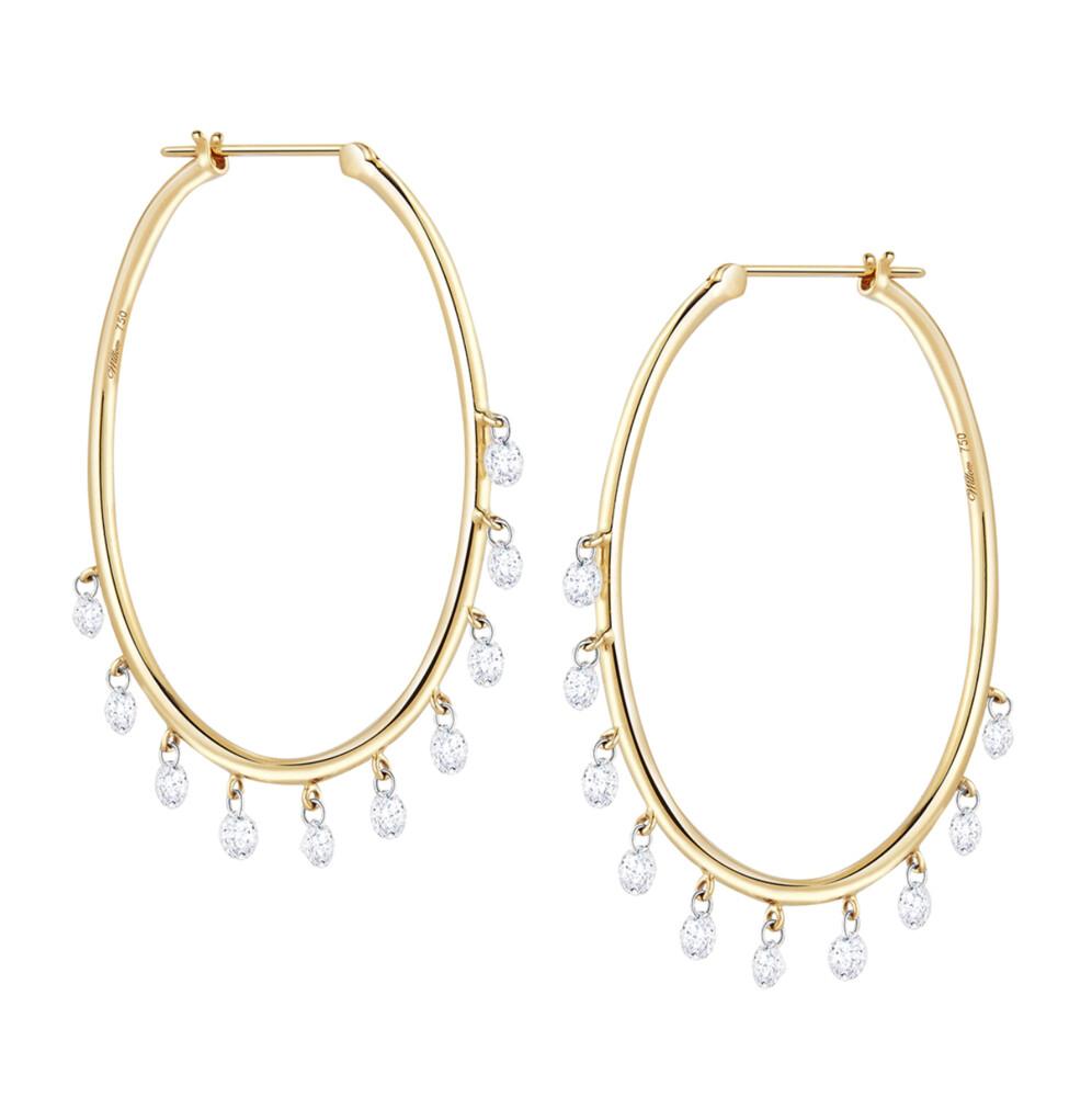 Oh My Jazz Oval Hoops Diamond Earrings
