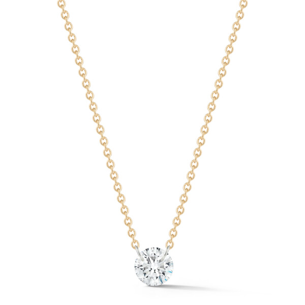Closeup photo of Solo Diamond Dangle Necklace