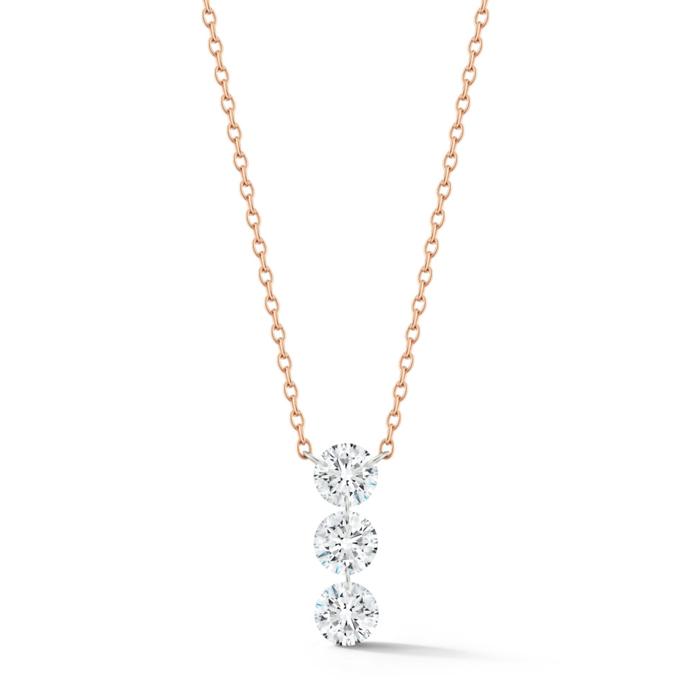 Trio Streamer 3-round Diamond Necklace