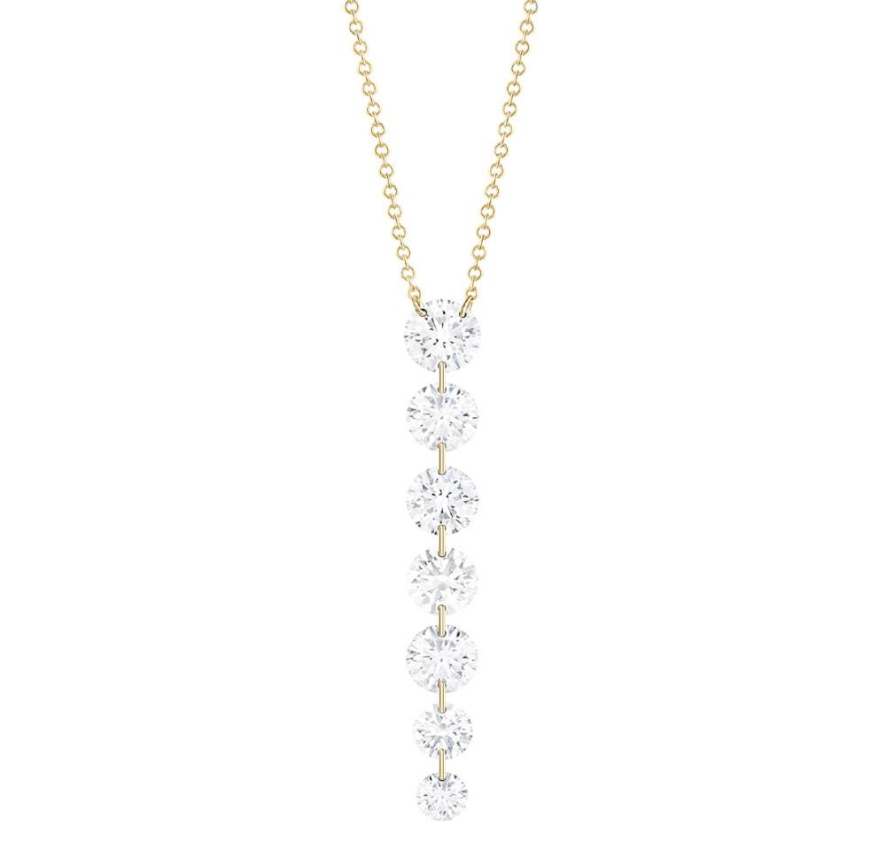 Downstream 7-round Diamond Necklace