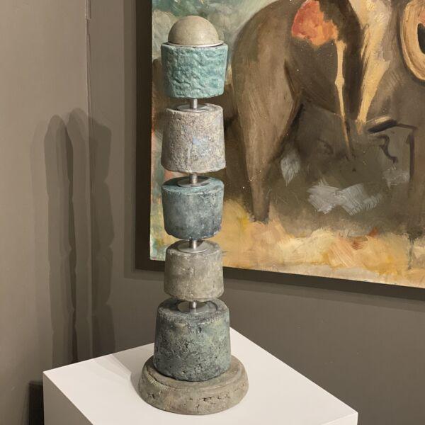 Closeup photo of Bones Concrete Totem