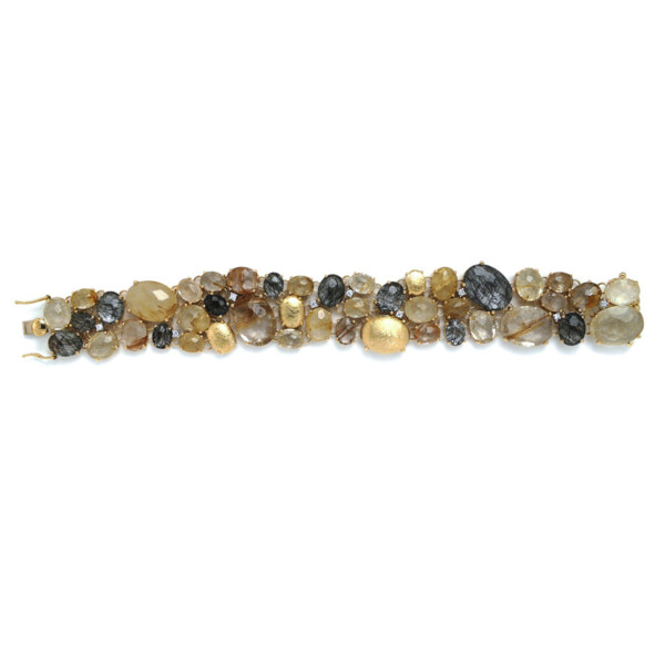Closeup photo of Ipanema Rutitlated Quartz Bracelet