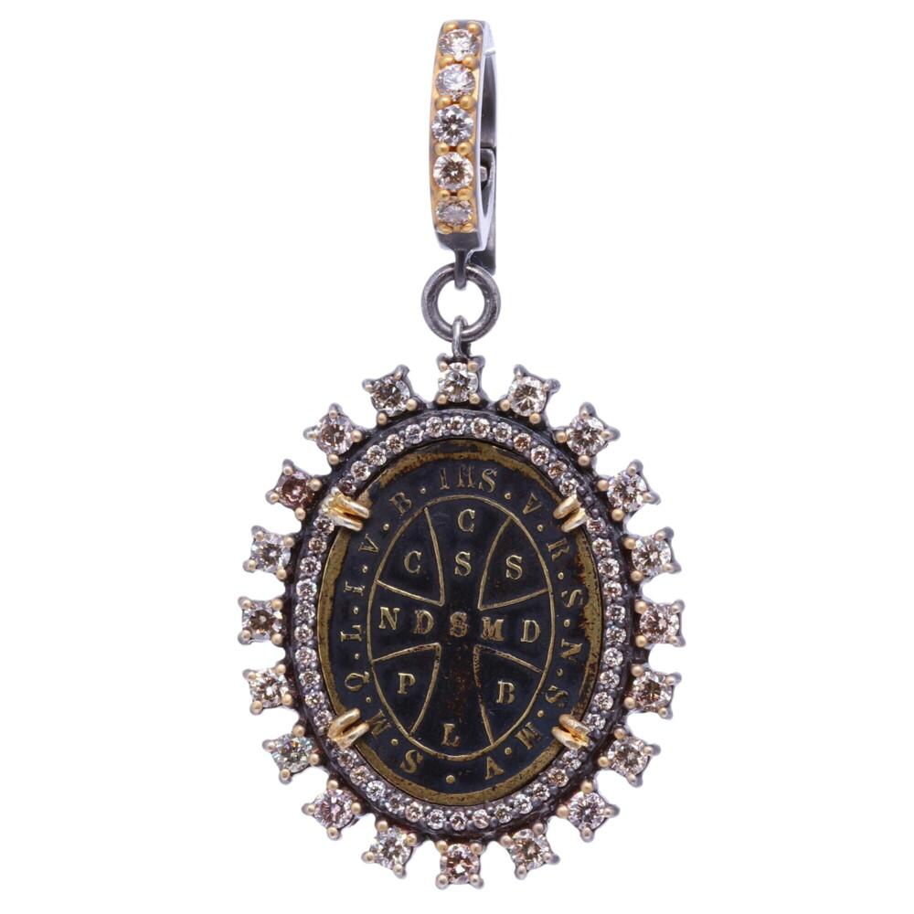 Antique St. Benedict Diamond Pendant