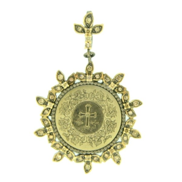 Closeup photo of Fancy Love Token Engraved With Cross