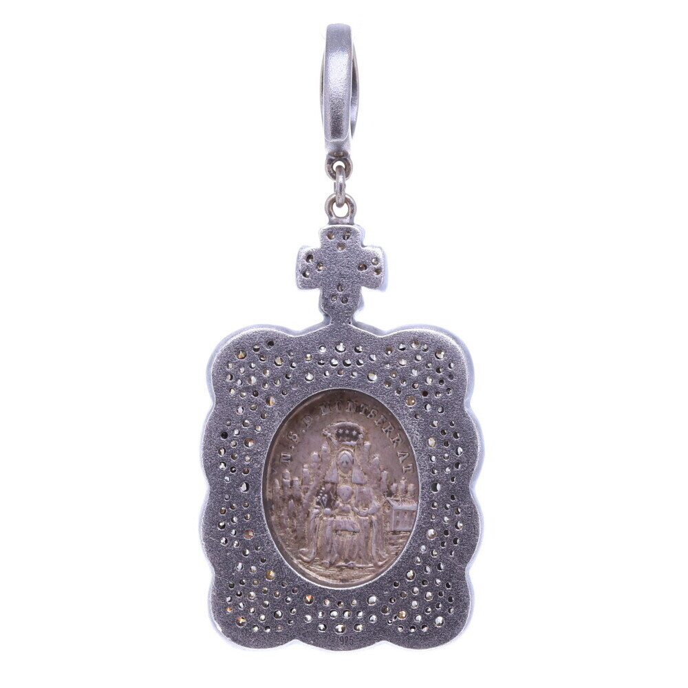 Image 2 for Antique St. Benedict with the Lady of Montserrat Pendant