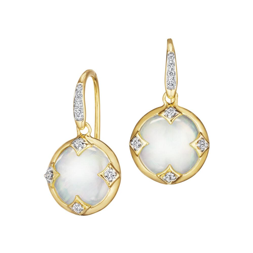 ChakraMOTHER OF PEARL & DIAMOND CHAKRA EARRINGS