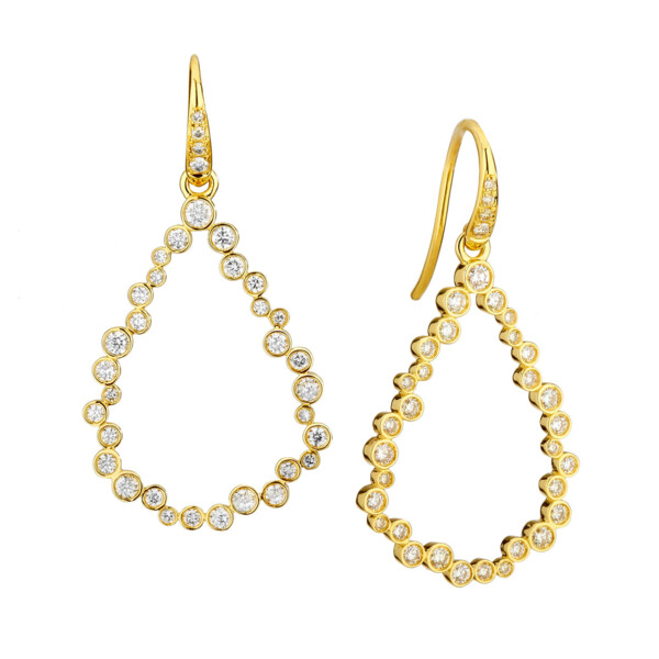 Closeup photo of CHAMPAGNE DIAMOND BUBBLES EARRINGS