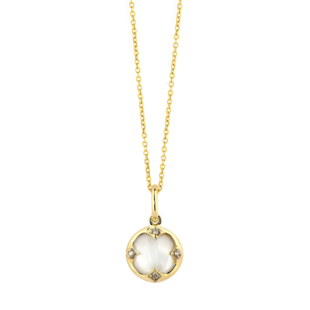 MOTHER OF PEARL & DIAMOND MOGUL NECKLACE