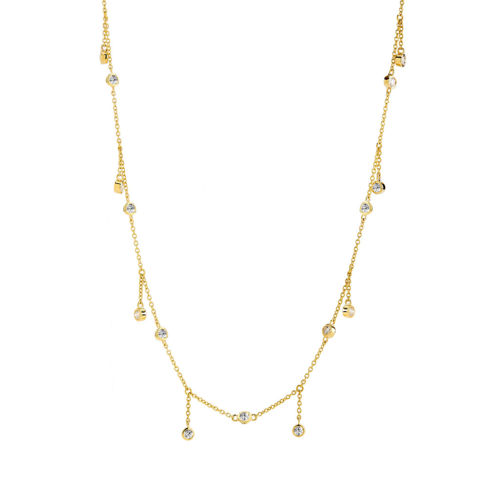 18KYG NECKLACE WITH CHAMPAGNE DIAMONDS