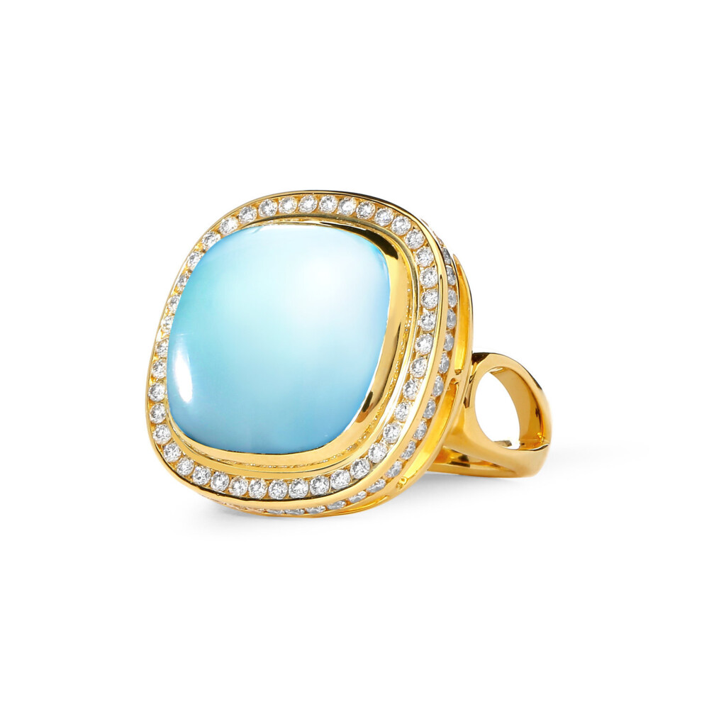 BLUE TOPAZ SUGARLOAF RING