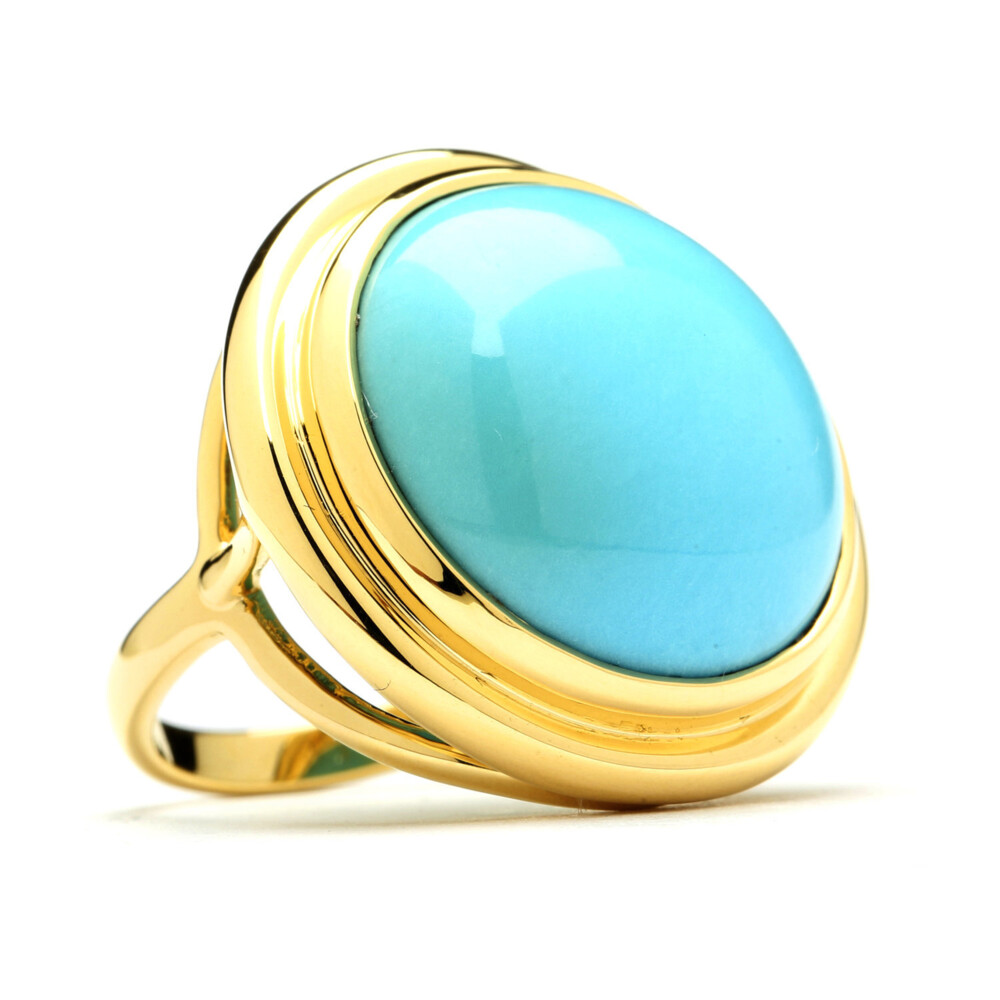 SLEEPING BEAUTY TURQUOISE MOGUL RING