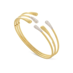 Closeup photo of Lucia 3 Row Bangle