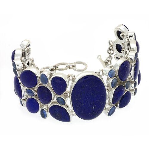 Lapis Lazuli Bracelet W Kyanite Cabochons Oval