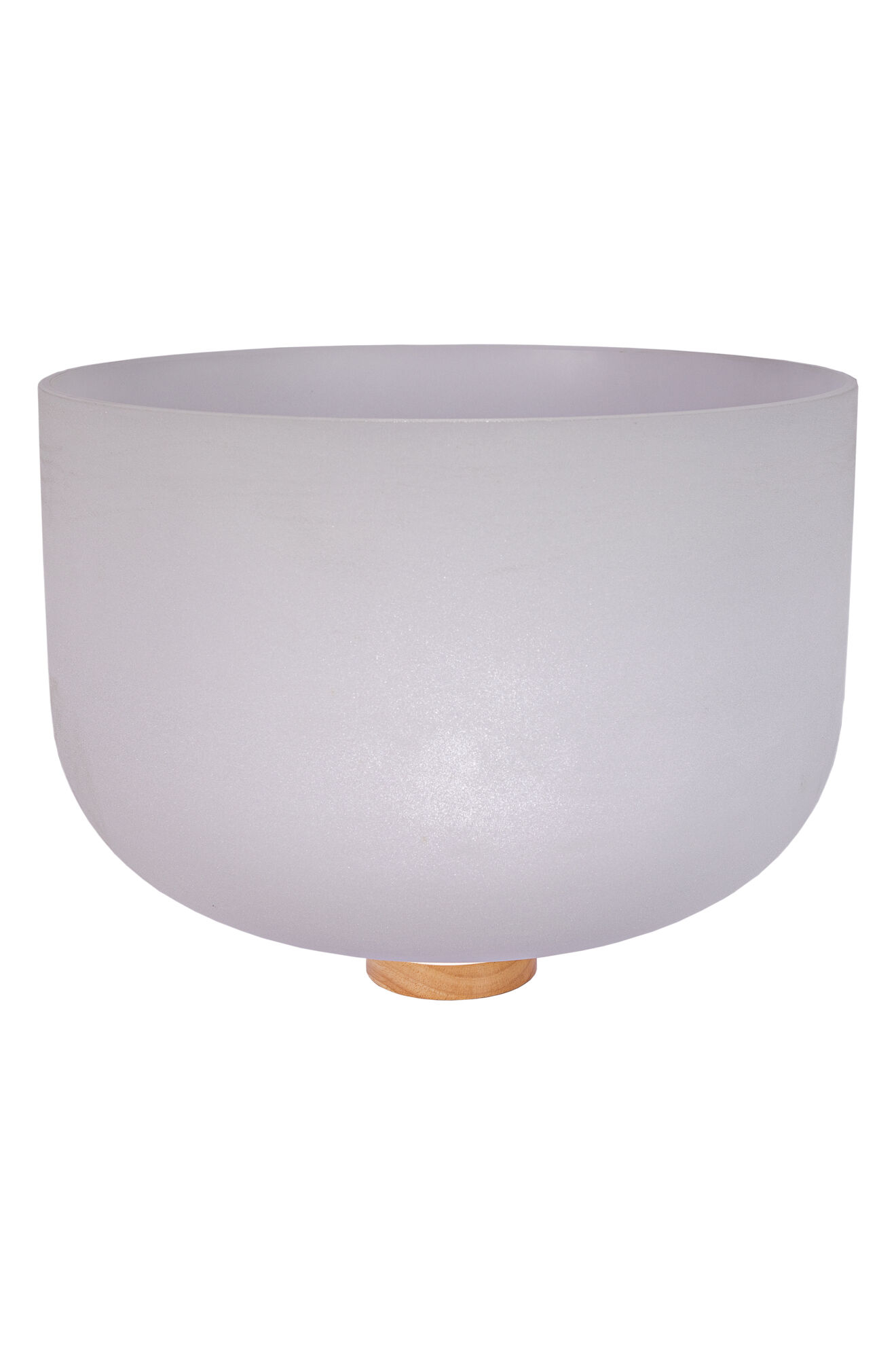 20 Frosted Quartz Singing Bowl Note F