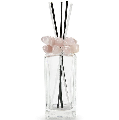 Rose Quartz Gemstone Scent Diffuser With Selenite Wooden Sticks