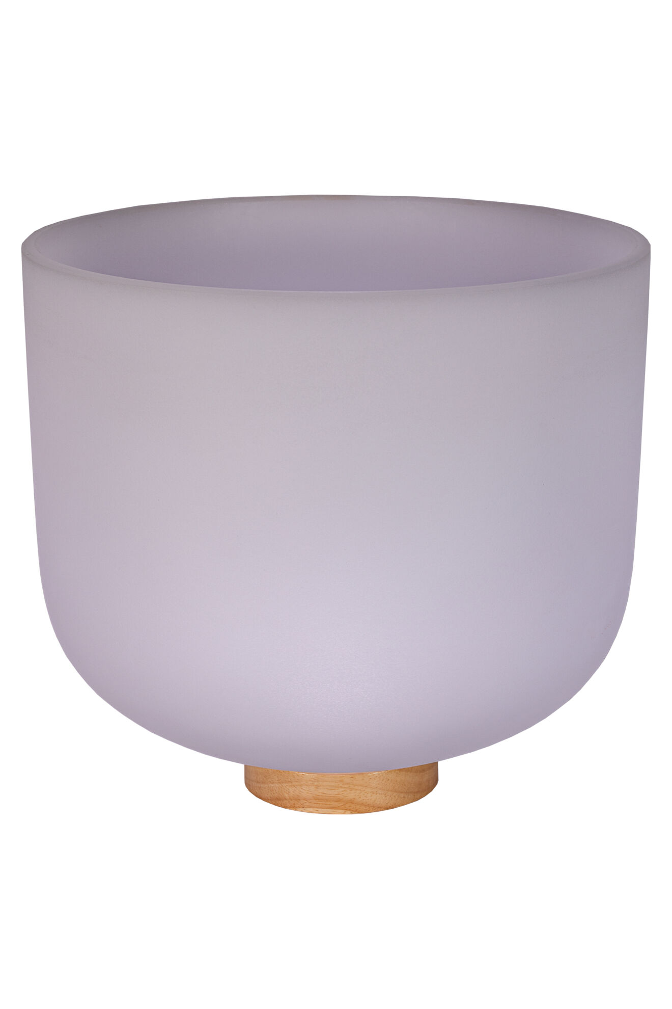 12 Frosted Quartz Singing Bowl Note G Perfect