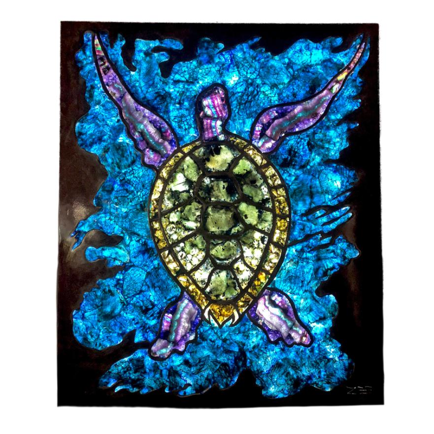 Illuminated Sea Turtle Gemscape