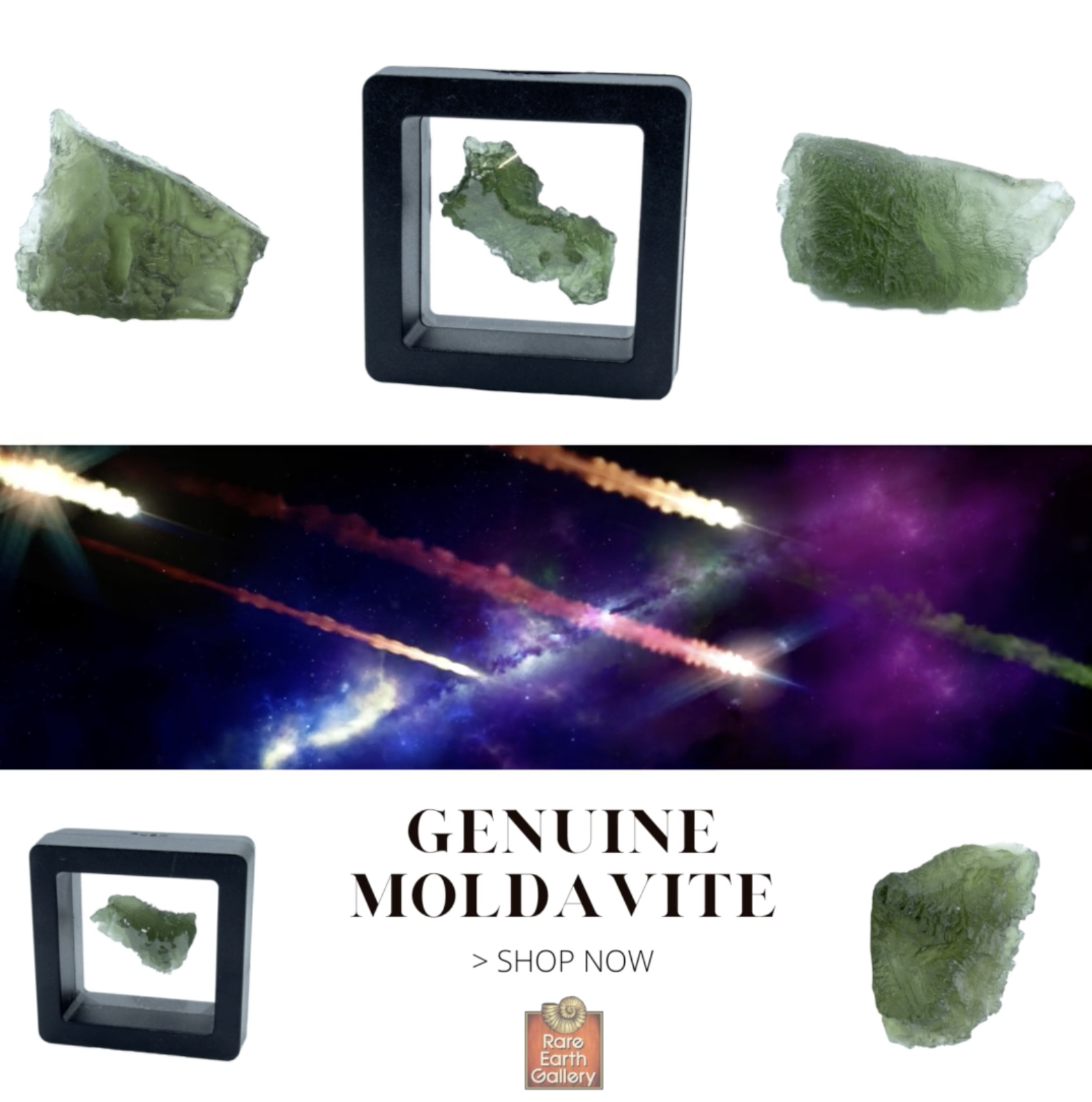 Moldavite Tektite Raw Nugget Rugged In Gel Case