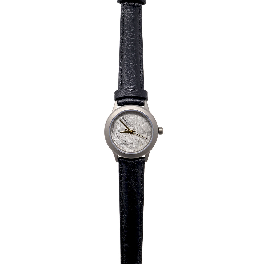 Muonionalusta Meteorite Watch - 20mm Face With Black Leather Band