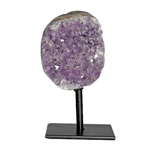 Closeup photo of Amethyst Druze Mini Cluster On Post Stand C