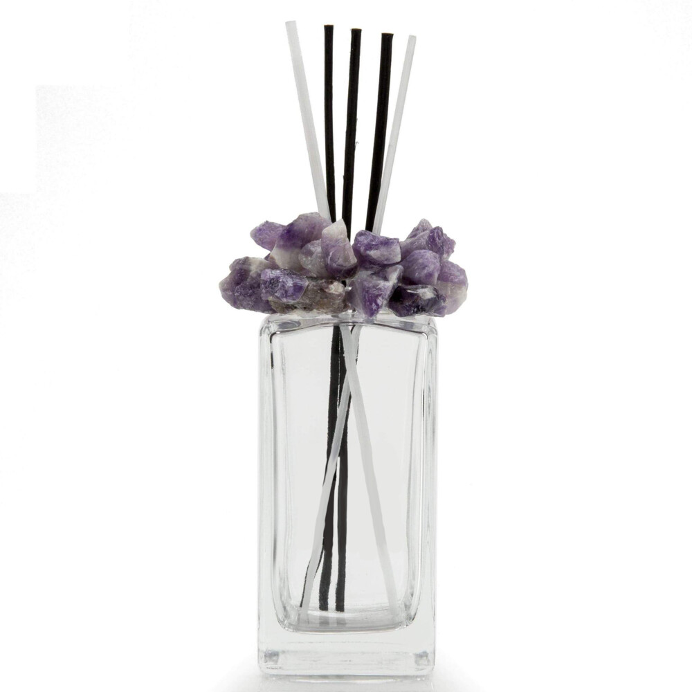 Amethyst Gemstone Scent Diffuser With Selenite & Wooden Sticks
